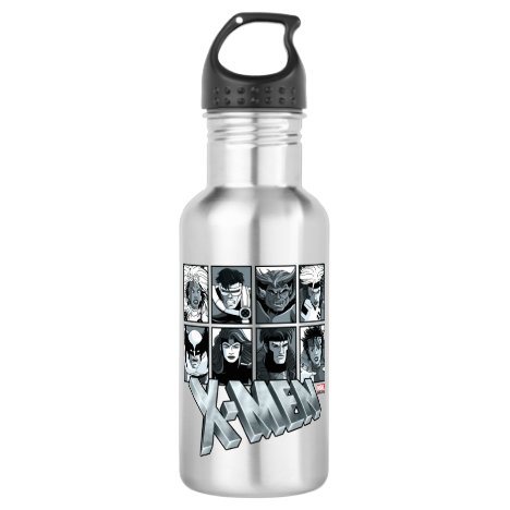 Classic X-Men | Silver Team Roster Stainless Steel Water Bottle