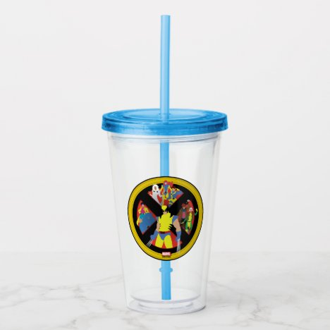 Classic X-Men | Simplified Character Art In Icon Acrylic Tumbler