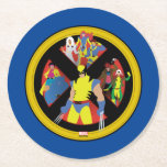 Classic X-Men   Simplified Character Art In Icon Round Paper Coaster