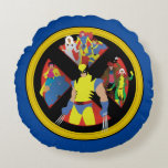 Classic X-Men   Simplified Character Art In Icon Round Pillow