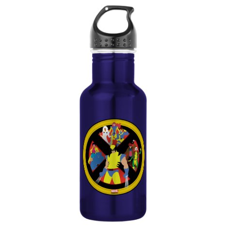 Classic X-Men | Simplified Character Art In Icon Stainless Steel Water Bottle
