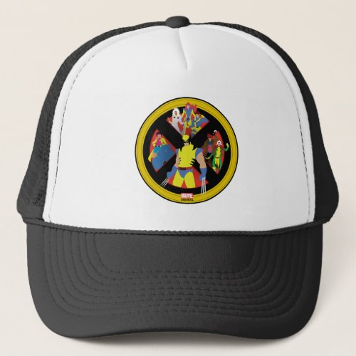 Classic X_Men  Simplified Character Art In Icon Trucker Hat