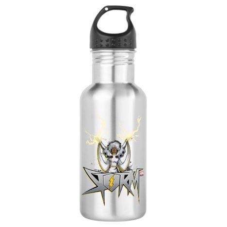 Classic X-Men | Storm Lightning Name Badge Stainless Steel Water Bottle