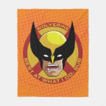 "Classic X-Men   Wolverine ""Best At What I Do, Bub"" Fleece Blanket"