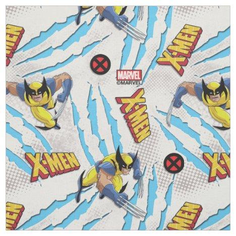 Classic X-Men | Wolverine Slash Pattern Fabric