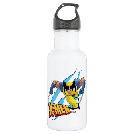 Classic X-Men | Wolverine Slash Pattern Stainless Steel Water Bottle