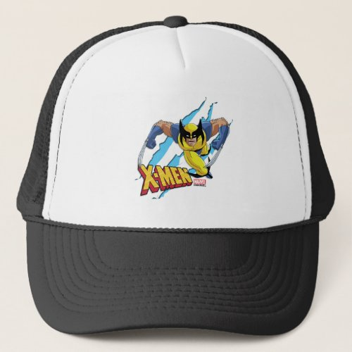 Classic X_Men  Wolverine Slash Pattern Trucker Hat
