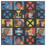 Classic X-Men   X-Men Hero Character Grid Fabric
