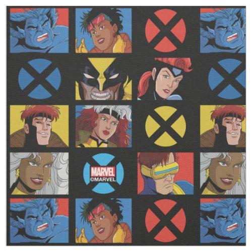 Classic X-Men | X-Men Hero Character Grid Fabric