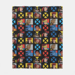 Classic X-Men   X-Men Hero Character Grid Fleece Blanket