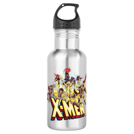 Classic X-Men | X-Men Team With Logo Stainless Steel Water Bottle
