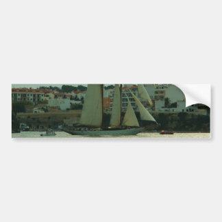 Classic Yacht Bumper Sticker