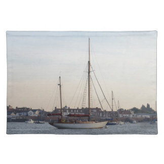 Classic Yacht Moored On TheCrouch Placemats