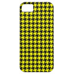Classic Yellow and Black Houndstooth Pattern iPhone 5 Cases