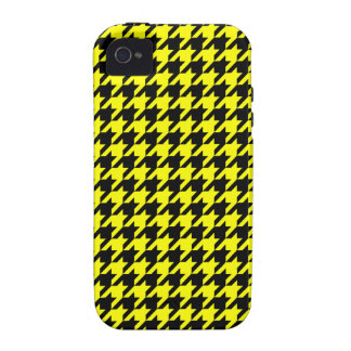Classic Yellow and Black Houndstooth Pattern Case-Mate iPhone 4 Case