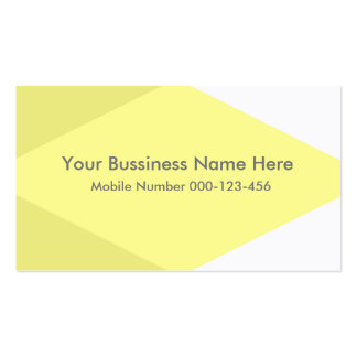 Classic Yellow and Card Congregation Business Card