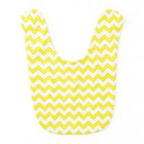 Classic Yellow and White Chevron Pattern Baby Bib
