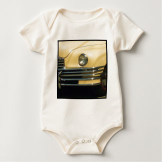 Classic Yellow Car Baby Bodysuit