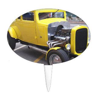Classic Yellow Car Cake Topper