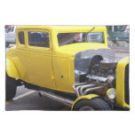 Classic yellow car cloth placemat