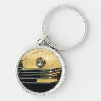 Classic Yellow Car Keychain