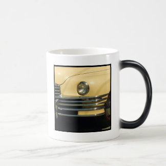 Classic yellow car magic mug