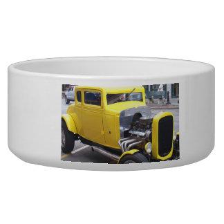 Classic Yellow Car Pet Water Bowl