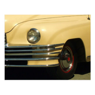 Classic Yellow Car Postcard