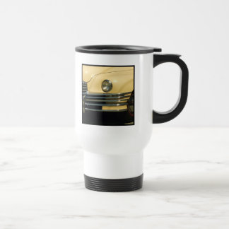 Classic yellow car travel mug
