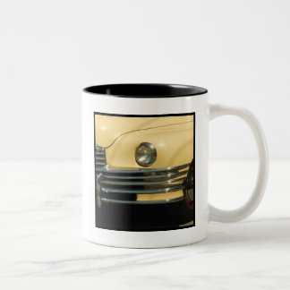 Classic yellow car Two-Tone coffee mug