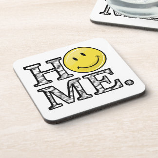 Classic Yellow Happy Face Housewarming Drink Coaster