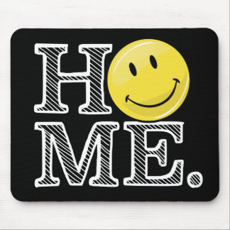 Classic Yellow Happy Face Housewarming Mouse Pad