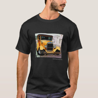 Classic yellow hot rod adult's tee shirt