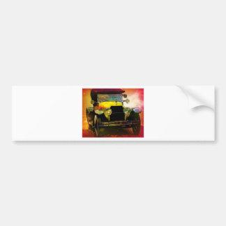 Classic Yellow Hot Rod Car Bumper Sticker