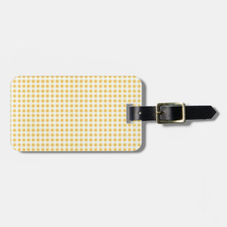 Classic Yellow Picnic Gingham Luggage Tag