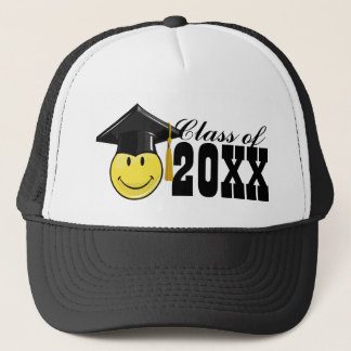 Classic Yellow Smiley With A Graduation Cap