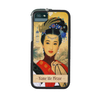 Classic young beautiful chinese princess Guo Jin Case For iPhone 5
