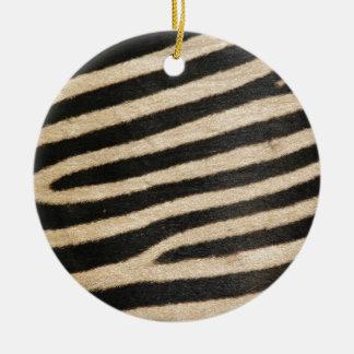 Classic zebra print. PJ. Ceramic Ornament