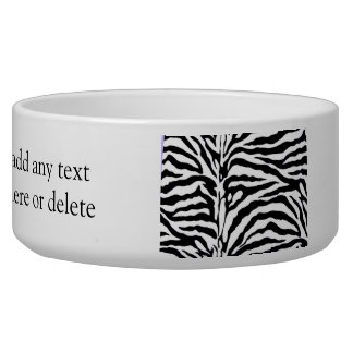 Classic Zebra Stripe Fur Bowl