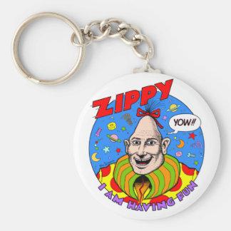 Classic Zippy Key Ring Basic Round Button Keychain