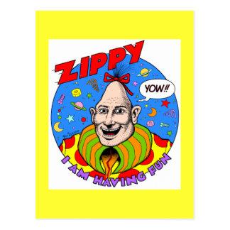 Classic Zippy Yellow Postcard