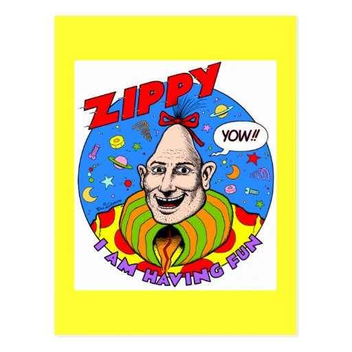 Classic Zippy Yellow Post Cards