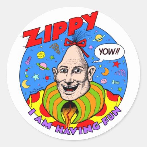 """Classic Zippy """"Yow"""" sticker"""