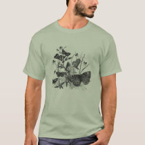 Classic Zoological Etching - Butterflies T-Shirt