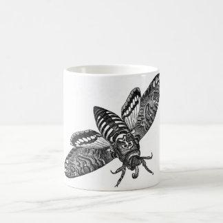 Classic Zoological Etching - Death's Head Moth Coffee Mug
