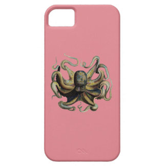Classic Zoological Etching - Grumpy Octopus iPhone SE/5/5s Case