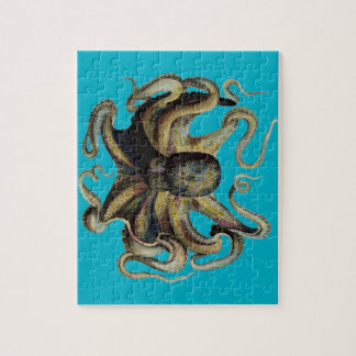 Classic Zoological Etching - Grumpy Octopus Jigsaw Puzzles