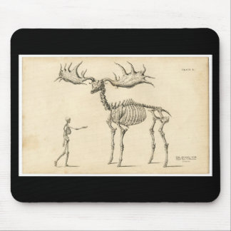 Classic Zoological Etching - Prehistoric Elk Mouse Pad