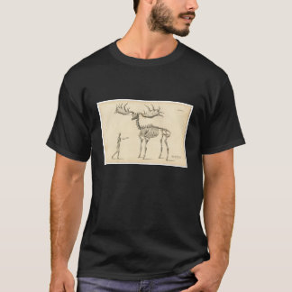 Classic Zoological Etching - Prehistoric Elk T-Shirt