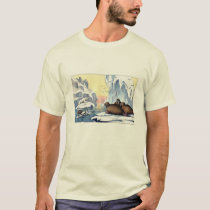 Classic Zoological Etching - Walrus & Polar Bear T-Shirt